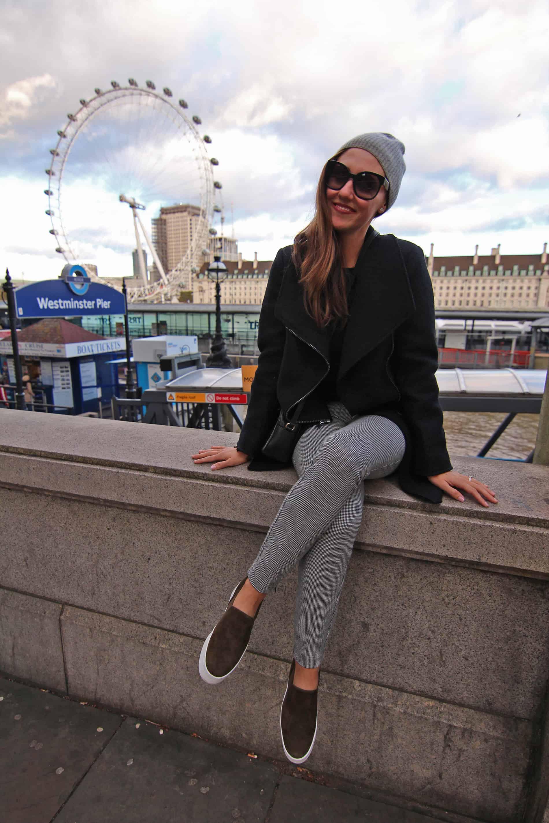 london eye across the thames