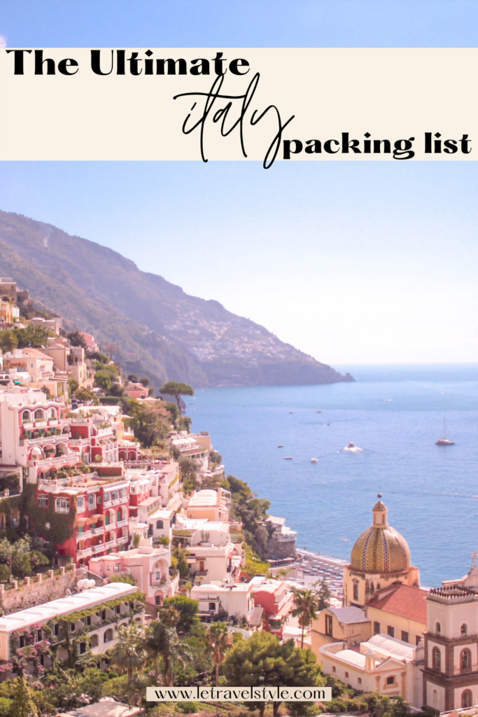 what to pack for italy