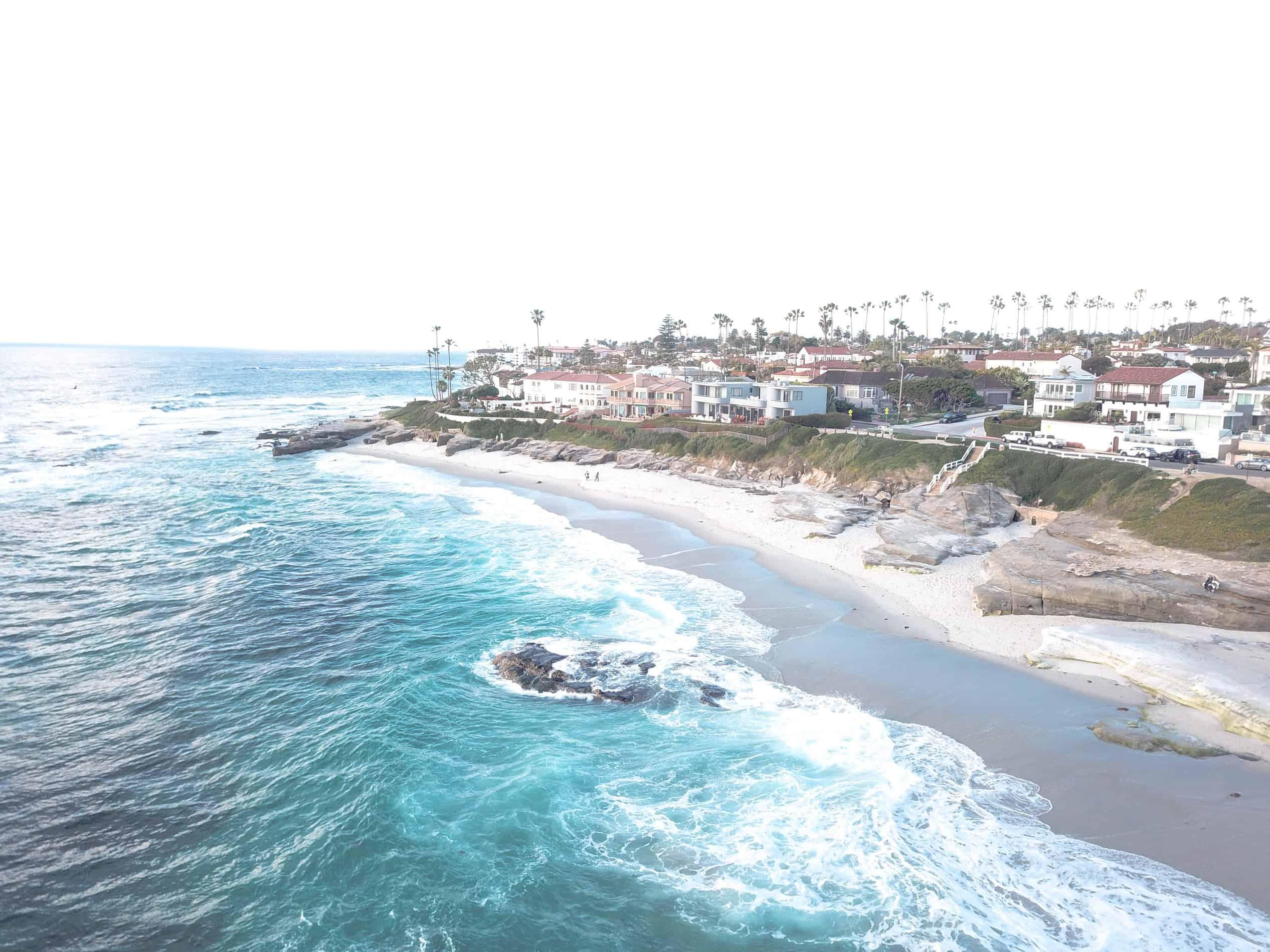La Jolla California drone shot