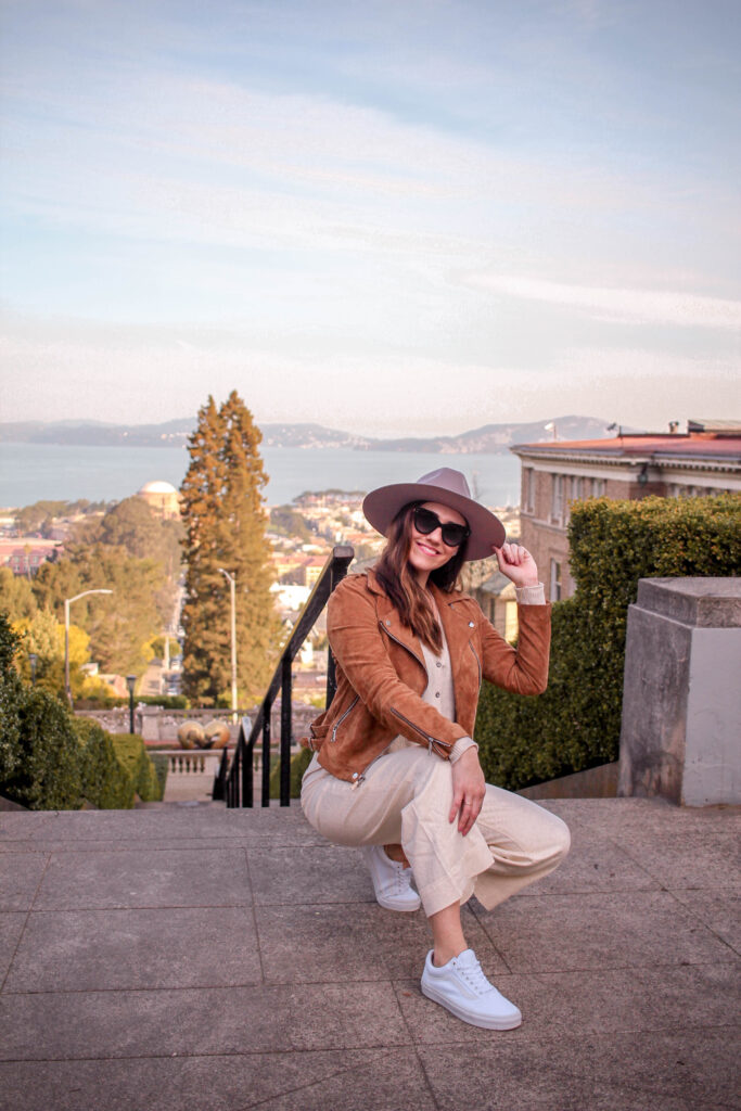 girl on lyon street steps san francisco