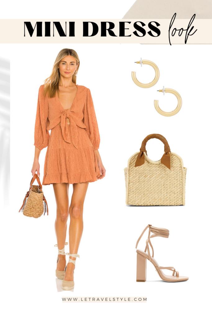 summer mini dress collage