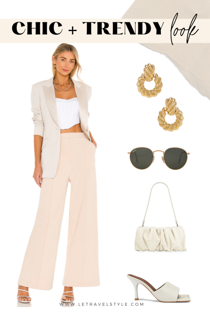 chic summer look collage