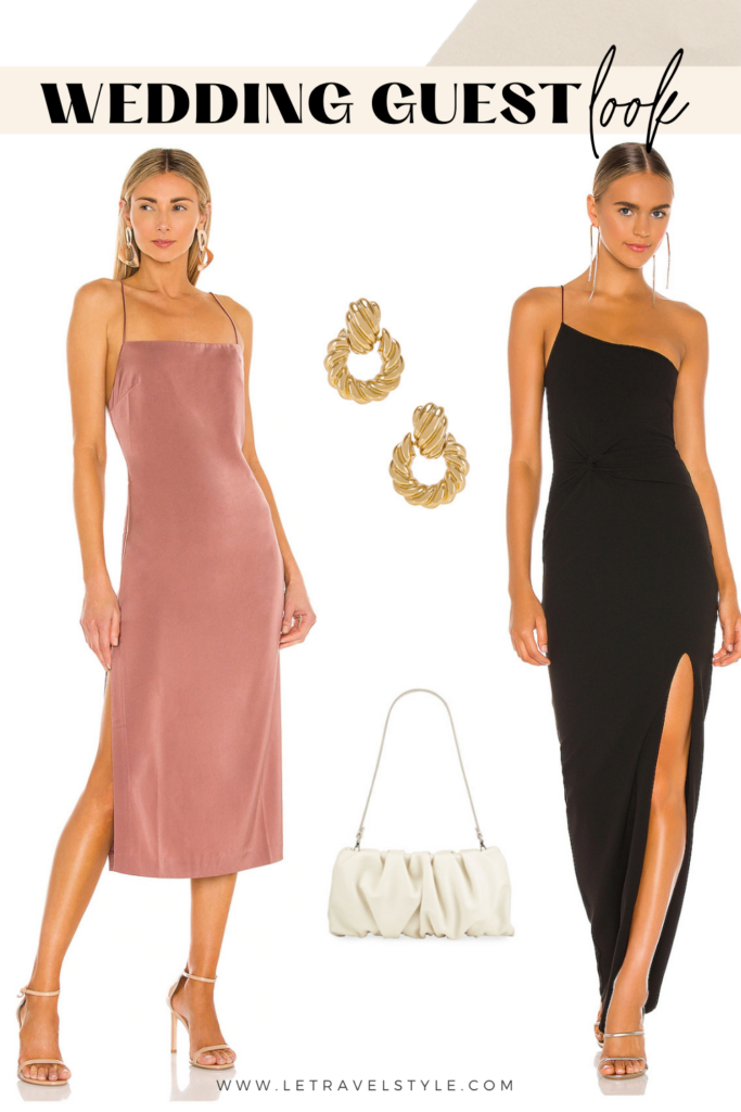 wedding guest dresses collage